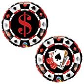 "Casino Chip 18"" Balloon (Each)"