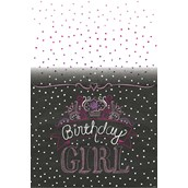 Chalkboard Party Plastic Tablecover