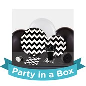 Chevron Black Party in a Box