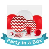 Chevron Red Party in a Box