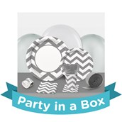 Chevron Silver Party in a Box