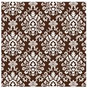 Chocolate Brown Brocade Jumbo Gift Wrap