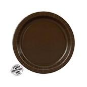 Chocolate Brown (Brown) Dessert Plates