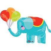 Circus Elephant Jumbo Foil Balloon
