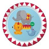 "Circus Time 7"" Cake Plates (8)"