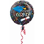 """Congrats Grad Graduation 18"""" Foil Balloon"""