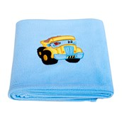 Construction Applique Fleece Blanket