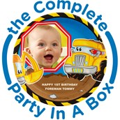 Construction Pals Personalized Party in a Box