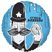 Cops and Robbers Party Foil Balloon