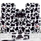 Cow Print 8 Guest Party Pack