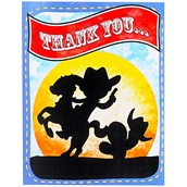 Cowboy 2nd Birthday Thank-You Notes