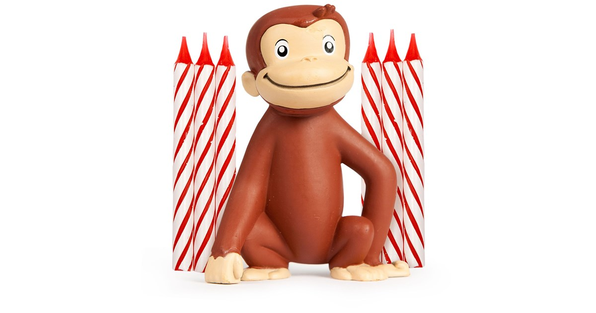 Curious George Cake Decoration And Candles