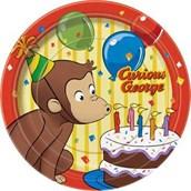 Curious George Dessert Plates