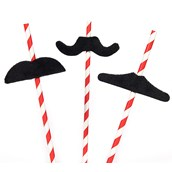 D.I.Y.  Mustache Straws