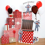 D.I.Y. Sock Monkey Red Room Decor