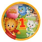Daniel Tigers Neighborhood 1st Birthday Dinner Plates