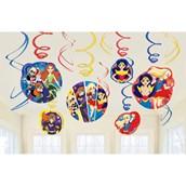 DC Super Hero Girls Swirl Decorations