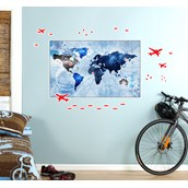 Denim Map Giant Wall Decal