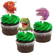 Dinosaur Adventure Cupcake Picks