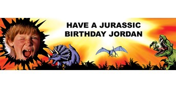 Dinosaurs Personalized Photo Vinyl Banner