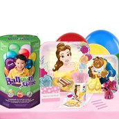 Disney Beauty and the Beast 16 Guest Party Pack - Tableware & helium Tank