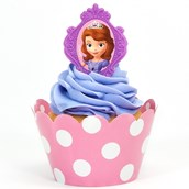 Disney Junior Sofia the First Cupcake Wrapper & Pick Kit