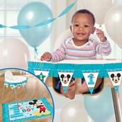 Disney Mickey Mouse 1st Birthday High Chair Kit