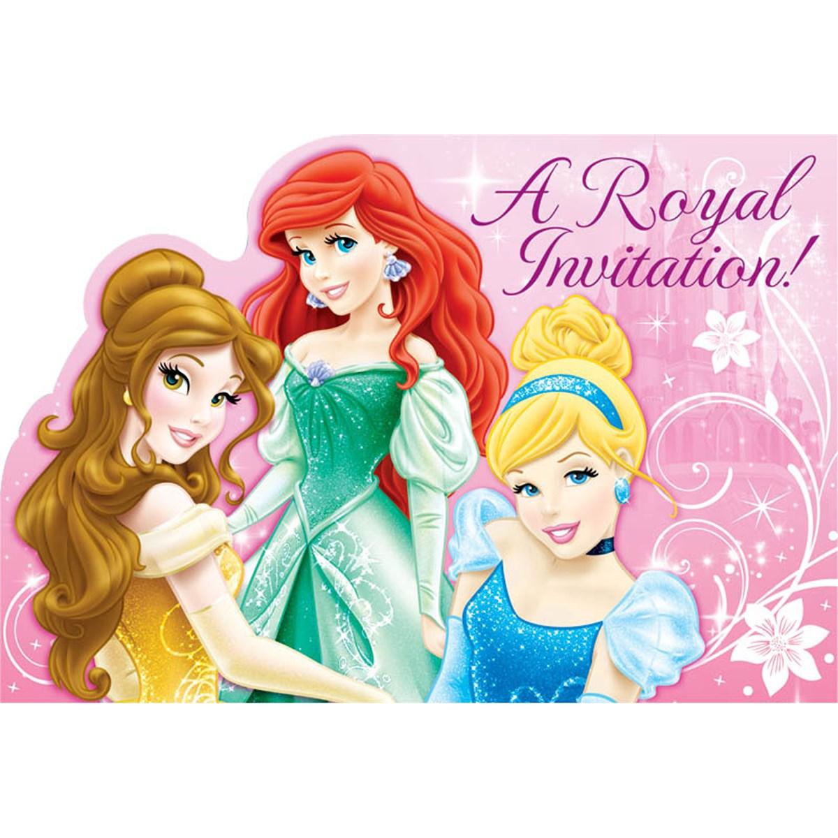 Disney Princess Invitations (8) | BirthdayExpress.com