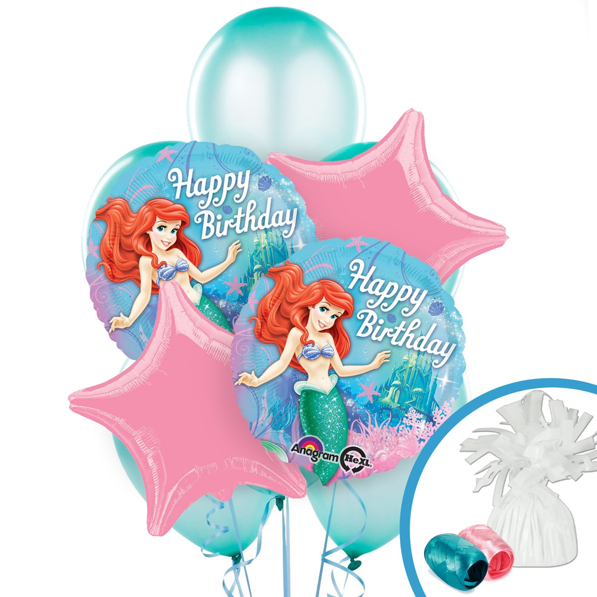 Where can you buy balloon arch kits in delaware - Disney The Little Mermaid Sparkle Balloon Bouquet Birthdayexpress Com