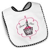Diva Zebra Print 1st Birthday Bib