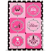 Diva Zebra Print Stickers (4)