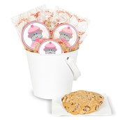 DIY Sock Monkey Pink Deluxe Cookie Favor Kit