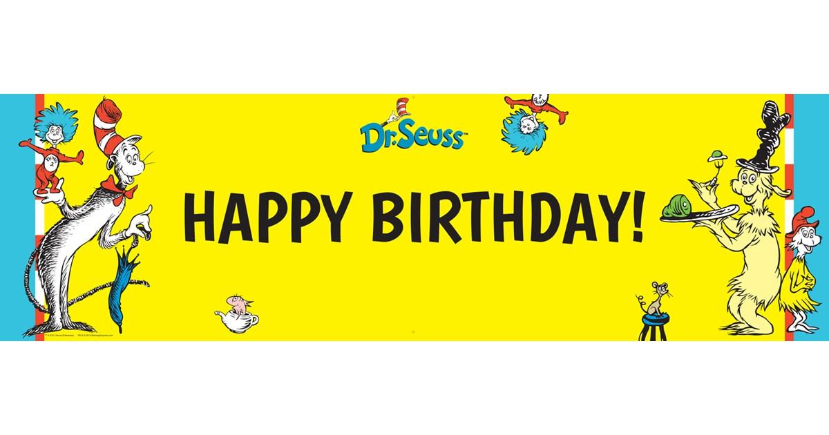 Dr Seuss Birthday Banner Birthdayexpress Com