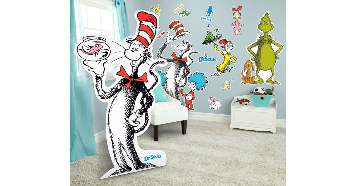 Dr Seuss Giant Wall Decals And Standup Kit