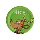 """Dr. Seuss Gr"""" Nice Dessert Plate (8)"""
