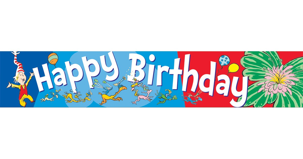 Dr. Seuss Happy Birthday Deco Trim