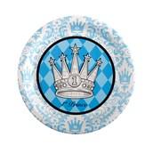 Elegant Prince Damask 1st Birthday Dinner Plates