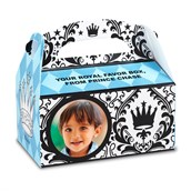 Elegant Prince Damask Personalized Empty Favor Boxes