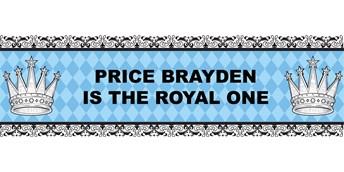 Elegant Prince Damask Personalized Vinyl Banner