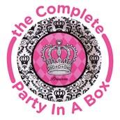 Elegant Princess Damask Party in a Box