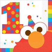 Elmo Turns One Beverage Napkins (16)
