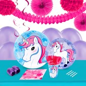 Enchanted Unicorn 16 Guest Tableware & Deco Kit