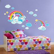 Fairytale Unicorn Party Giant Wall Decal