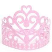 Felt Pink Fairytale Crown