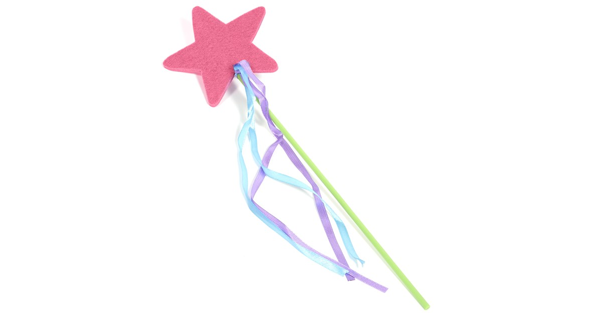 felt pink star wand. Black Bedroom Furniture Sets. Home Design Ideas