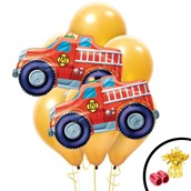 Fire Truck Jumbo Balloon Bouquet