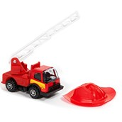 Fire Truck Rescue Cake Topper (2 Pieces)