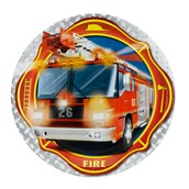 Fire Trucks Dinner Plates