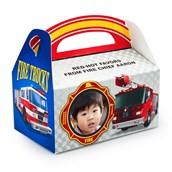 Fire Trucks Personalized Empty Favor Boxes