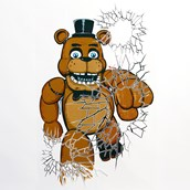 Five Nights at Freddy's Window Clings